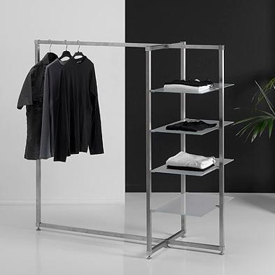 Perchero moderno con 4 estantes de cristal – Bricoretto | mesas ...